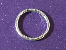 Classic 8mm 18g (1mm) Approx Continuous Sleeper Sterling Silver Nose Hoop Ring