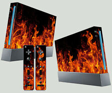 Nintendo Wii AUTOCOLLANT Fire réaliste style flammes braises PYRO Skin & 2 Pad