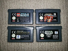 Star Wars Nintendo Gameboy Advance Cartridges x 4 Cleaned & Tested