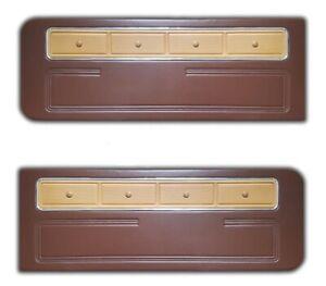 Ford Maverick Grabber Mercury Comet Standart Front Brown Door Panels 1970-1977