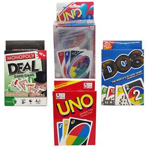 UNO H20 Playing Card Games Monopoly Deal Uno Dos Original Uno AU STOCK