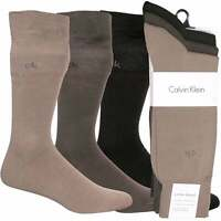 Calvin Klein 3-Pack Flat Knit Men's Socks, Brown Combo One Size