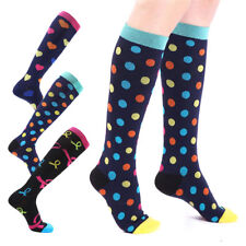 (3 Pairs) Compression Socks Sports Men Women Calf Shin Leg Running Fitness US