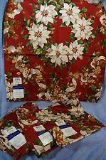 White Poinsettia Napkin Charter Club Cloth Napkins-Lot of 4-NWT