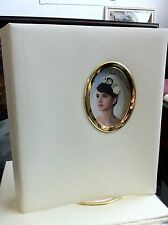 """3 RING LEATHER LIKE IVORY Photo Album  5""""X7"""" With 50 Refill pages 200 Photos"""