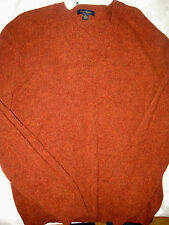 CLUB ROOM COLECTION FINE LIGHT LAMBSWOOL V-NECK COPPER FLECK SWEATER-NICE!-M