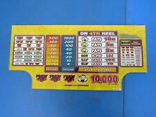 Bally Gaming Inc. Winning for Dummies Slot Machine Casino Glass