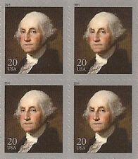 US 4504 George Washington 20c block (4 stamps) MNH 2011