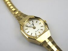 Rotary Vintage Ladies Round Gold Plated Case Watch