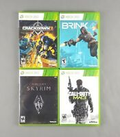 Skyrim, Call of Duty Modern Warfare 3 MW3, Brink, Crackdown 2 Xbox 360 Game Lot