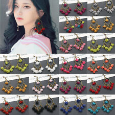 Fashion Bohemian Flower Earrings Women Tassel  Boho Dangle Ear Stud Jewelry New