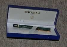 Waterman Fountain Pen Green/Gold with box