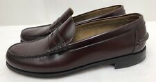 Mens FLORSHEIM Burgundy Leather Penny Loafers Shoes SIZE 8.5 D