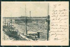 Taranto città bacino principe di Napoli STRAPPINO postcard cartolina KF3472