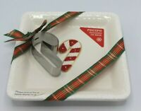 Hallmark Candy Cane With Cookie Cutter & Recipe Christmas Plate 7""