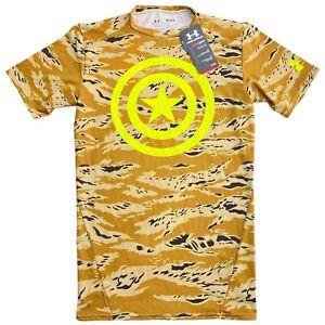 NWT Under Armour Alter Ego Camo Captain America Mens Compression Shirt Medium M