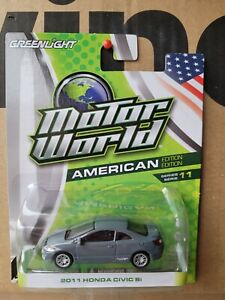 GREENLIGHT MOTOR WORLD  - HONDA CIVIC SI [GREY] NEAR MINT VHTF CARD GOOD