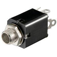 6,3mm Stereo Klinke Buchse zum Einbau Einbaubuchse für z.B. Mikrofon Kopfhörer