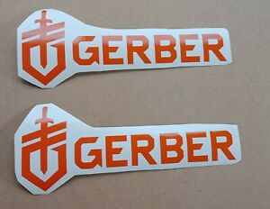 GERBER KNIVES VINYL STICKERS 2 X200MM CAR UTE HUNTING