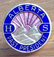 Alberta High School Past President Pin Badge Rare Vintage Original (D2)