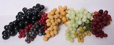 Lot of 7 Vintage Grape Clusters Artificial Faux Soft Rubber Plastic Fruit Bunch