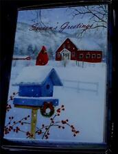 Trimming Traditions 18ct Christmas Cards with Envelopes - Country Cardinal - New
