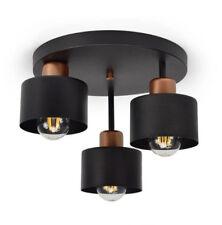 382-E3 Deckelampe Deckenleuchte Lampe Qualität Metall Schwarz Skandinavisch