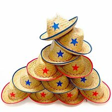 Dozen Straw Cowboy Hats for Kids - Makes Great Birthday Party Hats for Boys &