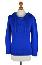 * Michael Kors Women's Cashmere Hooded Cobalt Sweater