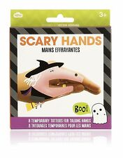 NPW TEMPORARY TATTOO SCARY HAND PUPPETS, 8 PACK for talking hands NP25033