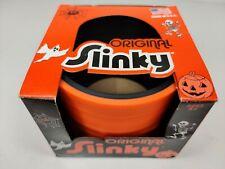 "Original Slinky Plastic Black/Orange Halloween Edition 3.5"" Wide"