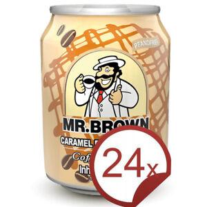 Mr. Brown Caramel Flavour Latte - 24 Karamell Kaffee Kaltgetränk MHD: 09.10.2020