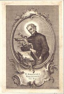 Sankt Johannes Cuadro Santos Amría Grabado Klauber Augsburg (Flo-4827 +