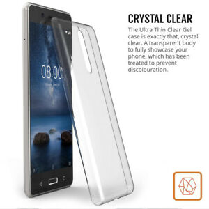 NEW CLEAR AND BLACK SLIM GEL CASE FOR NOKIA 2 NOKIA 3, NOKIA 5, NOKIA 6, NOKIA 8