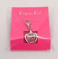 Origami Owl Silver Pave SWAROVSKI CRYSTAL Crown Dangle, LIMITED EDITION, HTF,NEW