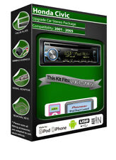 Honda Civic Pioneer Headunit estéreo, reproductor de CD con USB/AUX iPod iPhone Android