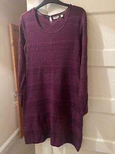Fat Face Womens Knitted Dress Purple/Maroon  Size 12