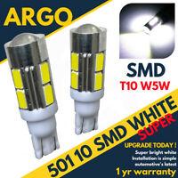501 10 LED SMD Haut Niveau Frein Ampoules Xénon Blanc T10 W5W 194 Wedge Lampe 2