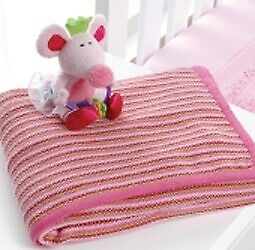 Playgro Ballerina Mouse Nursery Co-ordinates Cot Blanket - Knitted