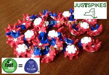 14 PULSAR RED WHITE BLUE Fast Twist Tri Lok Golf Spikes Softspikes Justspikes