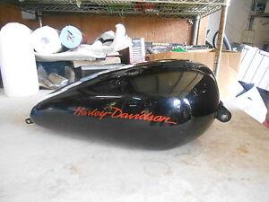Harley Davidson Black W/ Orange Letters Sportster Gas Tank