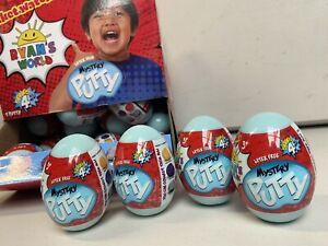 4x NEW Ryan's World Squishy Series 4 Mystery Putty Toy