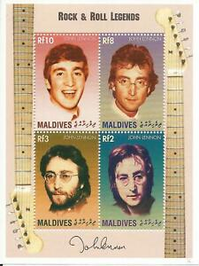 The Beatles - John Lennon - Maldives Islands Postal Stamps - 1995 - New & Unused