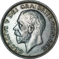 UK George V Silver Shilling Coin 1926 NEF Scratched