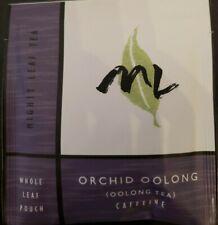 Mighty Leaf (ML) Tea Orchid Oolong Flavor 20 Tea Foil Pouches RARE