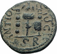 VALERIAN I Authentic Ancient Antioch Pisidia Roman Coin LEGION STANDARDS  i79247