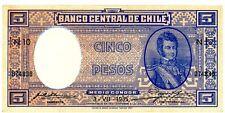 Chile ... P-91c ... 5 Pesos ... (3.7.1935) ... Ch. *AU-UNC*.