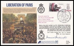 SOE French Section Leader MAURICE BUCKMASTER Signed Liberation of Paris Cover