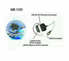 """USB 2.0 to IDE Cable Adapter 40/44-Pin for 2.5""""/3.5""""/ 5.25"""" IDE Drives , MK-U20"""