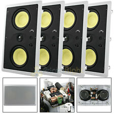 """New listing 4 Pack Dual 5.25"""" In Wall Lcr Speaker 200W Max 8 Ohm Mtx Audio Home Theatre"""